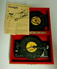 Vintage THOREN WINDUP MUSIC BOX with 6 Discs and Works Great Switzerland Alps