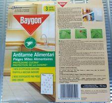 6 Conf.(18 Strisce) Baygon Striscia Antitarme Alimentari Trappola Adesiva Tarme
