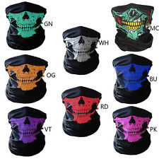 Outdoor Halloween Skeleton Ghost Skull Face Mask Cycling Biker Half Face Cover
