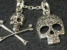 "Skull Sugar Halloween Goth Charm Tibetan Silver with 18"" Necklace *20*"