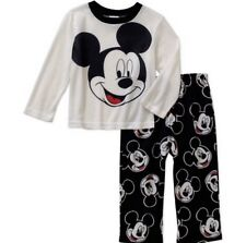 Disney Mickey  Mouse Toddler Boys  2 Pc Pajama Set Flame Resistant Size 3T