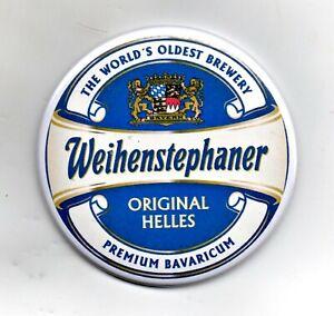 """Weihenstephaner Jumbo Fridge Magnet Beer Mat Bar 3"""" 75mm Blade Sub Badge Lager 1"""