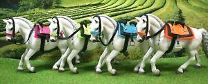 Spanischer Sattel Trense  Color Zubehör passend für  Schleich Pferde Pferd