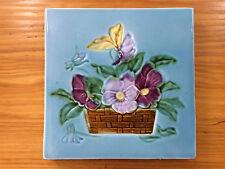 Jugendstil Fliese Kachel Antik Schmieder Möbelfliese 15,1 x 15,1 cm