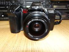 Minolta Dynax 7000i 35mm SLR Film Camera Bundle Lens Bag Flash Warranty Refurb