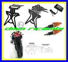 Kit Portatarga sportivo Moto Universale Regolabile con Frecce Luce Targa led
