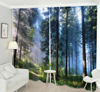 Childrens Bedroom Cartoon Animal Tree Window Blackout Rome Curtain Drapes WDS