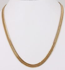 GOLD OVER STERLING SILVER ITALY SERPENTINE CHAIN NECKLACE 19.4 GRAMS 925 4073