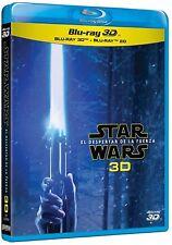 STAR WARS EL DESPERTAR DE LA FUERZA 3D + 2 BLU RAY EXTRAS NUEVO ( SIN ABRIR )