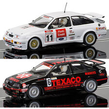 SCALEXTRIC Slot Cars C3738 C3781 BTCC - 2x Ford Sierra RS500 Brands Hatch