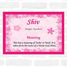 Certificado de Rosa significado Shiv nombre