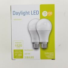 Ge 2 Pk 100w Daylight LED A19 Non Dimmable Bulbs 32594 1520 lumens
