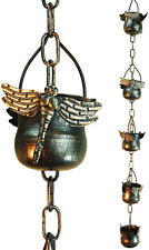Decorative Iron Dragonfly Rain Chain (Original Version)