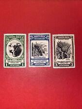 3 Coeta Rica Stamps -1950 Airmail - Series :Agricultural ,MLH