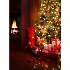 Photography backdrops christmas tree Fireplace Gifts Winter Vinyl Background