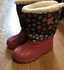 Jojo Maman Bebe Pink Snow Boots UK Child Size 11