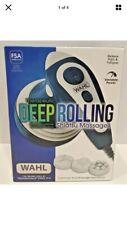 Wahl Deep Rolling Shiatsu Handheld Massager, Full Body Massage, 4291 Aqua/White