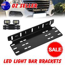 Number Plate Holder Mount Bracket Car LED Driving Light Bar Licence Aluminum