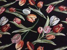 Hochwertiger Gobelin Möbelstoff Polsterstoff Bezugsstoff - Tulpen