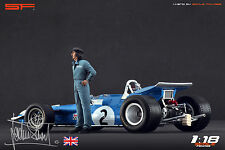 1/18 Jackie Stewart figure Very Rare ! for 1:18 Autoart Tyrell Cmc