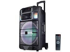 """IQ Sound IQ-5215DJBT 15"""" Portable PA Speaker +Bluetooth +USB/SD/LED +Free Mic"""