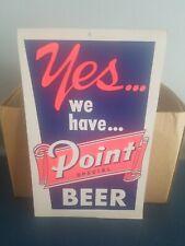 (VTG) 1960s Steven's point beer cardboard advertising sign bar game room wi