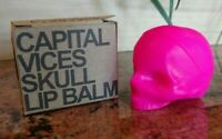 Rebels Refinery Capital Vices SKULL LIP BALM Superbia MINT Natural Neon Pink NEW