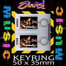 ELVIS PRESLEY -KEYRING- KEY CHAIN - KEY RING- 35mm X 50mm s