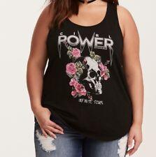 Torrid Girl Power Slub Tank Top Black 3X 22 24 #87659