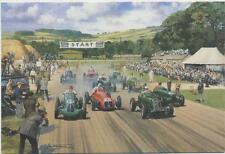 Goodwood Motor Racing Car mg era Maserati tarjeta de cumpleaños