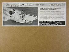 1963 Kenner SKI BARGE Boat photo vintage print Ad