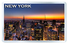 NEW YORK SUNSET MOD5 FRIDGE MAGNET SOUVENIR IMAN NEVERA