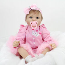 22'' REBORN GIRL DOLL VINYL SILICONE NEWBORN BABIES DOLLS TOYS GIFTS US STOCK