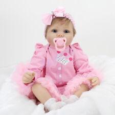22'' Realistic Lifelike Reborn Baby Doll Newborn Silicone Vinyl Girl Dolls Toys