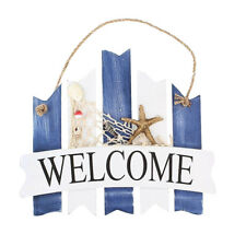 Wooden Plaque WELCOME Wall Art Craft Sign Design Beach Tropical Decor -Fence