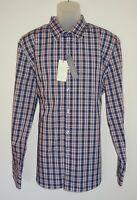 Perry Ellis Mens L/S Shirt Blue Tattersall Check XL Non Iron Stretch NWT