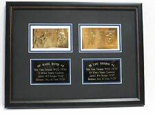 Babe Ruth & Lou Gehrig **23K GOLD MLB HALL OF FAMERS TRIAL PROOFS** RARITY