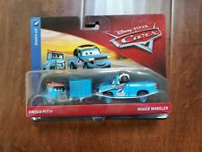 *New* Disney Cars Diecast Dinoco PITTY  & ROGER WHEELER 2 Pack