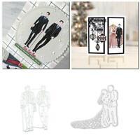 Hochzeit Schneiden stirbt Schablone DIY Scrapbooking Album Stempel Dekor