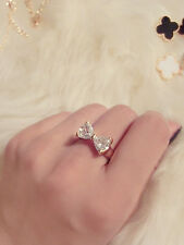 Delicate Fashion Trendy 18K Gold Plated Finger Bow Wedding Engagement