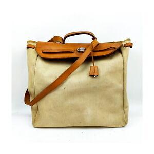HERMES Shoulder Bag HERBAG Cream Canvas 1718841