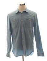 Gap Blue Chambray Denim Button Down Shirt Size L Large
