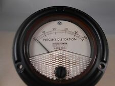 """631-15905 PERCENT DISTORTION  METER  0-50    NEW OLD STOCK 3 1/2"""" ROUND"""