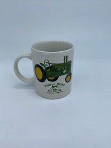 "John Deere White Coffee Mug Moline, Illinois Model ""A"" Tractor"