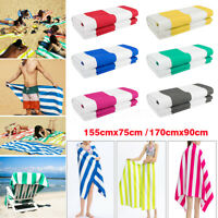 Striped Large Microfibre Beach Towel Lightweight Bath Camping Quick Dry  +