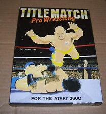 Atari VCS 2600 Cartucho de consola de videojuegos título coincide con Pro Wrestling Nueva En Caja