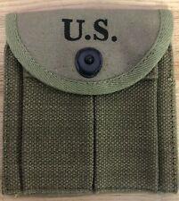 Ww2 Us Butt Stock Rifle Od Ammo Pouch Boyt 43 M1 Carbine Caliber 30 Rifle Wwii