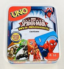 UNO Spider-Man Card Game Ultimate Spider-man Web-Warriors Ages 7+ Collectors Tin