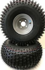 PAIR ATV/QUAD TRAILER 22 X 11 8 KNOBBY TYRES ON 100mm PCD RIMS