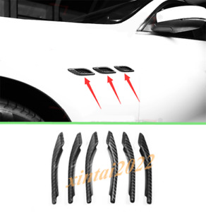 Real Carbon Fiber Side Wing Air Vent Fender Cover For Maserati Ghibli 2014-2019
